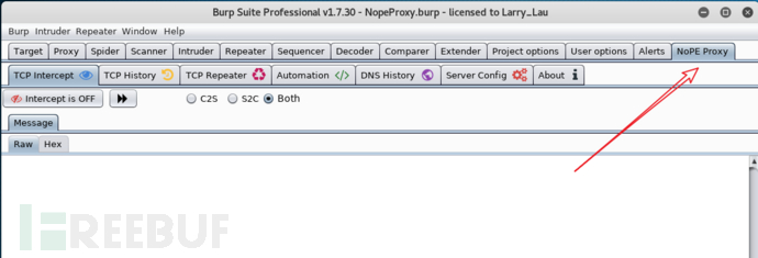 Burpsuite抓取非HTTP流量