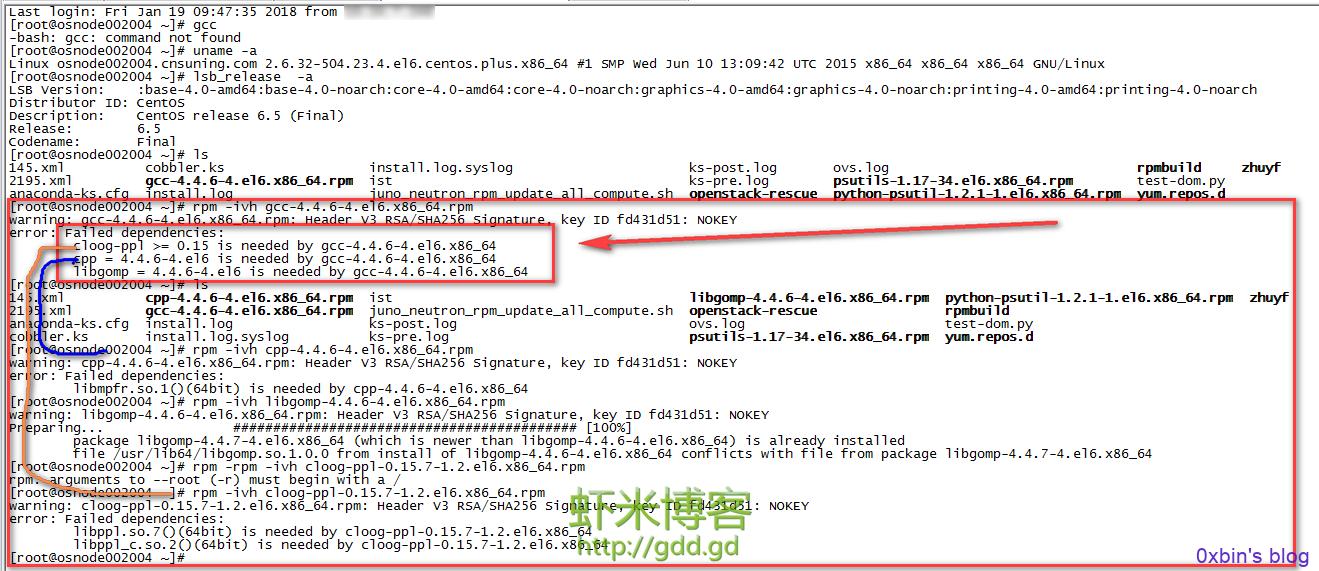 安装gcc缺少其他文件