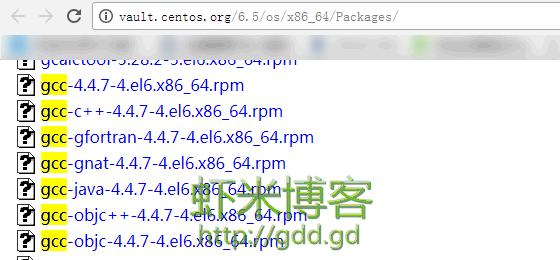centos6.5 对应 gcc版本